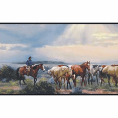 878583 Headin'em Home Horse Wallpaper Border