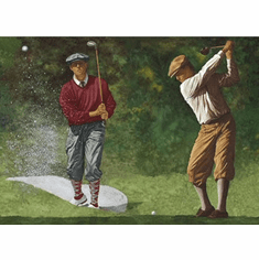 878609 Vintage Golfers Wallpaper Border IN2650b