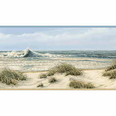 878625 Dunes Beach Waves Wallpaper Border DLR53611b