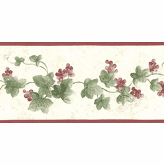 878631 Narrow Ivy Wallpaper Border SM8433b