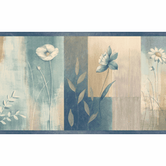 878644 Floral Botanical Wallpaper Border MEA24625b