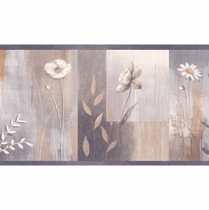878645 Botanical Floral Wallpaper Border MEA24626b