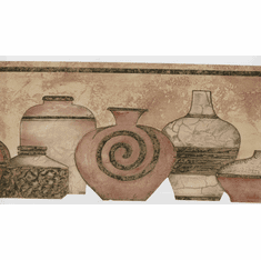 878658 Clay Pots Wallpaper Border ZN72952dc