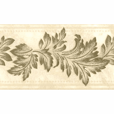 878667 Embossed Cream Gold Leaves Wallpaper Border 92219