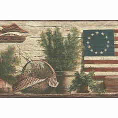 878682 Patriotic Eagle Wallpaper Border