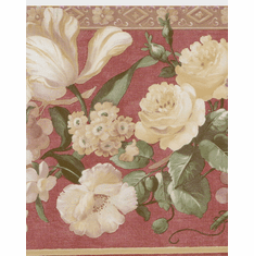 878691 Floral Satin Wallpaper Border