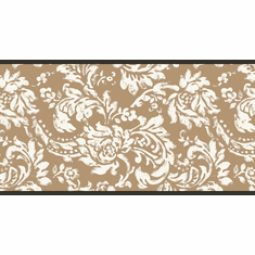 878713 Gold Damask Wallpaper Border KB8560b