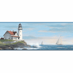 878722 Sailing Lighthouse Wallpaper Border