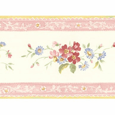 878731 Floral Mini Print Wallpaper Border FP79507