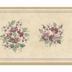 878735 Floral Mini Print Wallpaper Border