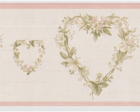 878740 Country Heart Wreaths Wallpaper Border