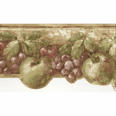 878756 Grapes Fruit Wallpaper Border