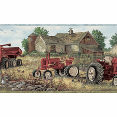 878781 Countryside Tractor Wallpaper Border CTR63161b