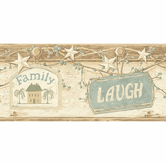 878784 Cream Live Laugh Love Wallpaper Border CTR63153b