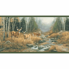 878838 Deer Creek Green Wallpaper Border