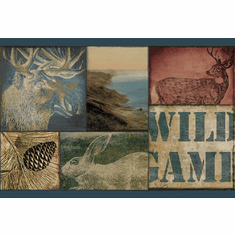 878847 Wild Game Scenes Blue Wallpaper Border TTL01491b