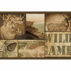 878849 Wild Game Scenes Brown Wallpaper Border TTL01493b