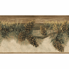 878852 Pinecone Wallpaper Border TTL01632b