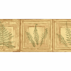 878874 Framed Ferns Wallpaper Border NL57043b