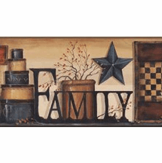 878903 Family Shelf Wallpaper Border AC4341bd