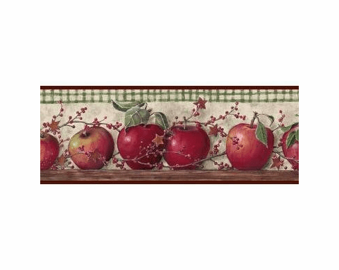 878906 Just Apples Wallpaper Border BH11-089-001-35