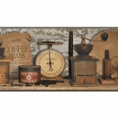 878907 Country Coffee Wallpaper Border AC4396bd