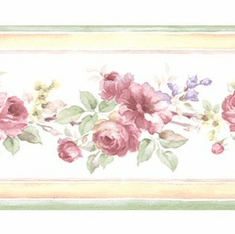 878909 Narrow Floral Mini Print Wallpaper Border