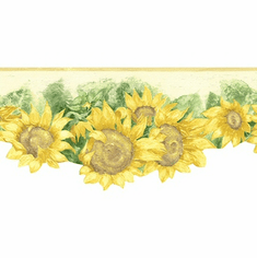 878912 Bright Sunflower Wallpaper Border KC78052dc