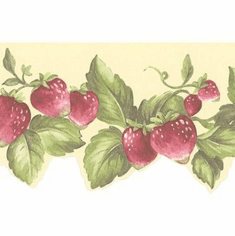 878913 Strawberries Wallpaper Border FK78455dc