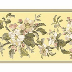 878919 Birds of Versailles Floral Wallpaper Border GE57101b