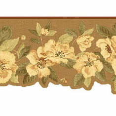 878920 Dogwood Floral Wallpaper Border QT18141b