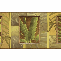 878923 Tropical Leaves Wallpaper Border NL57004b