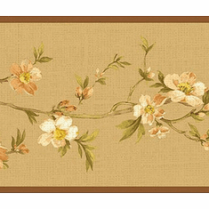 878932 Cherry Blossom Orchard Wallpaper Border NL57034b