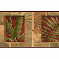 878934 Tropical Leaves Wallpaper Border