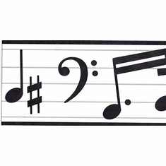 878938 Music Musical Notes Wallpaper Border TH20650b