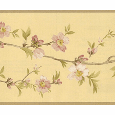 878948 Cherry Blossom Orchard Wallpaper Border