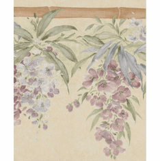 878952 Satin Floral Wallpaper Border