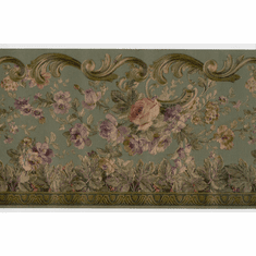 878953 Silk Floral Scroll Wallpaper Border