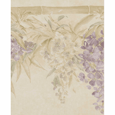 878956 Satin Floral Wallpaper Border