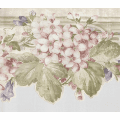 878961 Scalloped Floral Wallpaper Border
