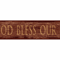 878968 God Bless Our Home Wallpaper Border