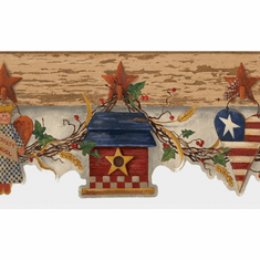878970 Patriotic Swag Wallpaper Border