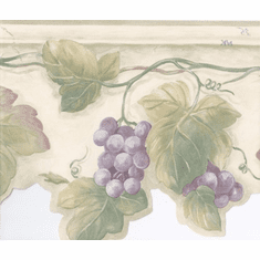 878986 Grape Leaves Wallpaper Border
