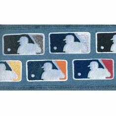 878997 Major League Baseball MLB Logo Patches Wallpaper Border