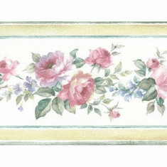 879010 Mini Floral Rose Wallpaper Border