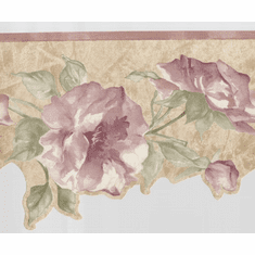 879021 Scalloped Croscill Concerto Floral Wallpaper Border JCP9322