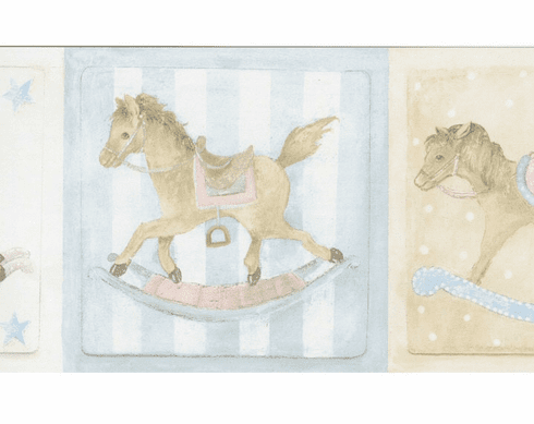 879030 Rocking Horse Wallpaper Border