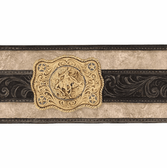 879049 Western Belt Buckles Wallpaper Border WS6026b