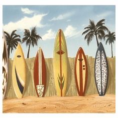 879053 Surfboards Beach Wallpaper Border 144b07141