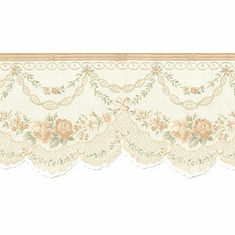 879058 Satin Rose Swag Wallpaper Border 979b02019
